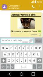 LG Leon - Mensajería - Escribir y enviar un mensaje multimedia - Paso 19