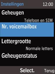 Nokia 220 - Voicemail - Handmatig instellen - Stap 9