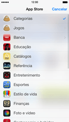Apple iPhone iOS 7 - Aplicativos - Como baixar aplicativos - Etapa 5
