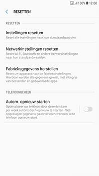 Samsung Galaxy J7 (2017) - Device maintenance - Terugkeren naar fabrieksinstellingen - Stap 7