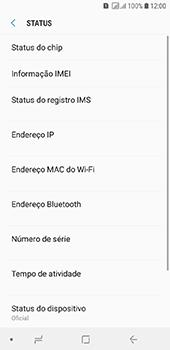 Samsung Galaxy J6 - Primeiros passos - Como encontrar o número de IMEI do seu aparelho - Etapa 6