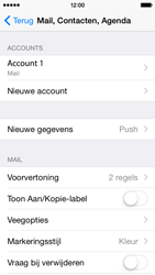 Apple iPhone 5 (Model A1429) met iOS 8 - E-mail - Handmatig instellen - Stap 16