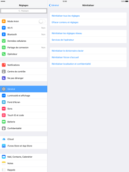Apple iPad Pro 12.9 (1st gen) - iOS 9 - Device maintenance - Retour aux réglages usine - Étape 5