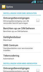 LG P700 Optimus L7 - SMS - handmatig instellen - Stap 4