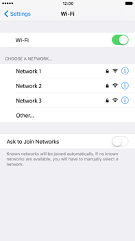 Apple iPhone 6 Plus iOS 10 - Wi-Fi - Connect to a Wi-Fi network - Step 5