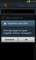 Samsung I8190 Galaxy S III Mini - Contacten en data - Contacten kopiëren van toestel naar SIM - Stap 8