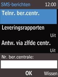 Nokia 220 - SMS - Handmatig instellen - Stap 9