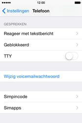 Apple iPhone 4S met iOS 8 (Model A1387) - Beveiliging en ouderlijk toezicht - Hoe wijzig ik mijn SIM PIN-code - Stap 4