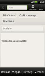 HTC T320e One V - E-mail - Hoe te versturen - Stap 7