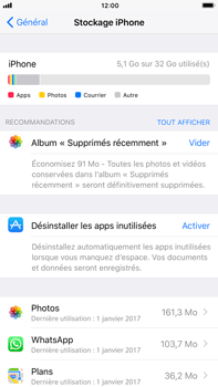 Apple iPhone 6 Plus - iOS 11 - Applications - Supprimer une application - Étape 5