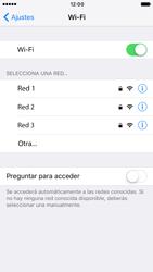 Apple iPhone 6 iOS 10 - WiFi - Conectarse a una red WiFi - Paso 5