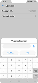 Huawei Mate 20 Lite - Voicemail - Manual configuration - Step 8