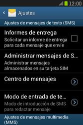 Samsung S6310 Galaxy Young - Mensajería - Configurar el equipo para mensajes de texto - Paso 8