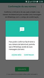 Samsung Galaxy J5 (2016) DualSim (J510) - Aplicações - Como configurar o WhatsApp -  9