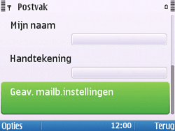 Nokia E5-00 - E-mail - handmatig instellen - Stap 21