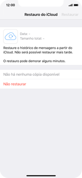 Apple iPhone X - iOS 12 - Aplicações - Como configurar o WhatsApp -  12