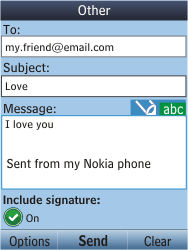 Nokia C2-05 - E-mail - Sending emails - Step 11