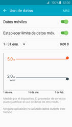 Samsung Galaxy S6 - Internet - Ver uso de datos - Paso 9