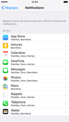 Apple iPhone 6s iOS 10 - iOS features - Personnaliser les notifications - Étape 4