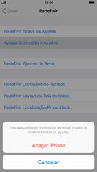 Apple iPhone iOS 11 - Funções básicas - Como restaurar as configurações originais do seu aparelho - Etapa 8