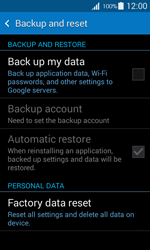 Samsung G357 Galaxy Ace 4 - Device - Reset to factory settings - Step 6