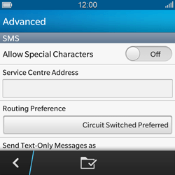 BlackBerry Q10 - SMS - Manual configuration - Step 7
