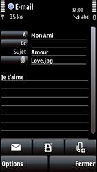 Nokia 5800 Xpress Music - E-mail - envoyer un e-mail - Étape 14
