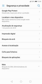 Huawei P Smart - Segurança - Como ativar o código de bloqueio do ecrã -  5