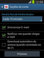 Samsung S5310B Galaxy Pocket Neo - Email - Como configurar seu celular para receber e enviar e-mails - Etapa 20