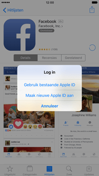 Apple iPhone 6 Plus iOS 10 - Applicaties - Account aanmaken - Stap 8
