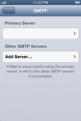 Apple iPhone 4 S iOS 6 - Email - Manual configuration - Step 13