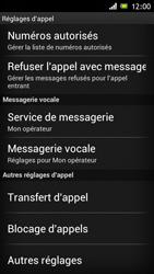Sony ST26i Xperia J - Messagerie vocale - configuration manuelle - Étape 6