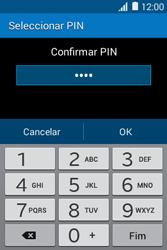 Samsung Galaxy Young II - Segurança - Como ativar o código de bloqueio do ecrã -  10