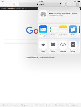 Apple iPad Pro (9.7) - Internet - navigation sur Internet - Étape 5