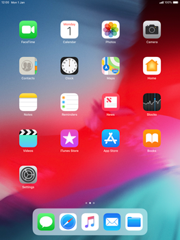 Apple iPad mini 4 iOS 12 - Applications - Create an account - Step 1