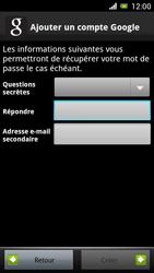 Sony Ericsson Xpéria Arc - Premiers pas - Créer un compte - Étape 19