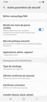 Samsung Galaxy A40 - Sécurité - modifier SIM PIN - Étape 6