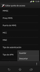 Sony Xperia Z - Internet - Configurar Internet - Paso 15