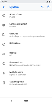 Google Pixel 3 - Device - Factory reset - Step 8