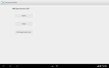 Sony SGP321 Xperia Tablet Z LTE - E-mail - e-mail instellen: IMAP (aanbevolen) - Stap 7