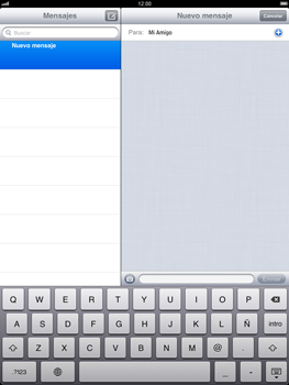 Apple iPad 2 - Mensajería - Escribir y enviar un mensaje multimedia - Paso 7