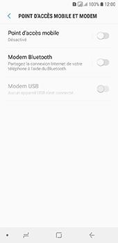 Samsung Galaxy A6 - Internet et connexion - Partager votre connexion en Wi-Fi - Étape 6