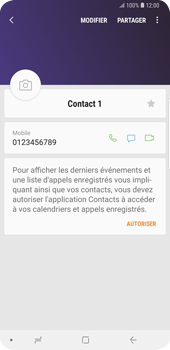 Samsung Galaxy S9 Plus - Contact, Appels, SMS/MMS - Ajouter un contact - Étape 9