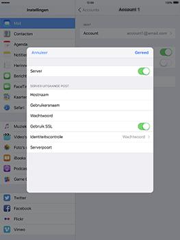 Apple iPad Pro 9.7 - iOS 10 - E-mail - Handmatig instellen - Stap 22