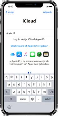 Apple iPhone X - Instellingen aanpassen - Activeer het toestel en herstel jouw iCloud-data - Stap 17