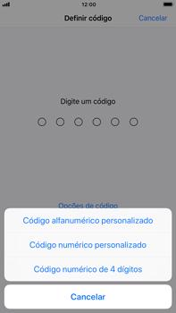 Apple iPhone 7 Plus iOS 11 - Segurança - Como ativar o código de bloqueio do ecrã -  6