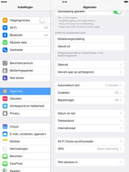 Apple iPad Mini Retina met iOS 7 - Instellingen aanpassen - Fabrieksinstellingen terugzetten - Stap 4