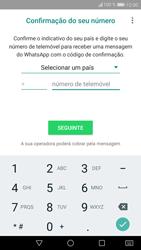 Huawei P9 Lite - Android Nougat - Aplicações - Como configurar o WhatsApp -  9