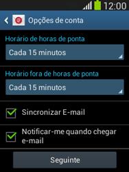 Samsung Galaxy Pocket Neo - Email - Configurar a conta de Email -  17