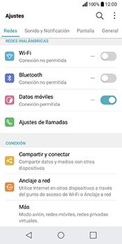 LG Q6 - Red - Seleccionar el tipo de red - Paso 3